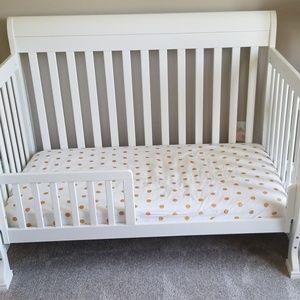 Land of Nod Crib Sheet and Changing Pad
